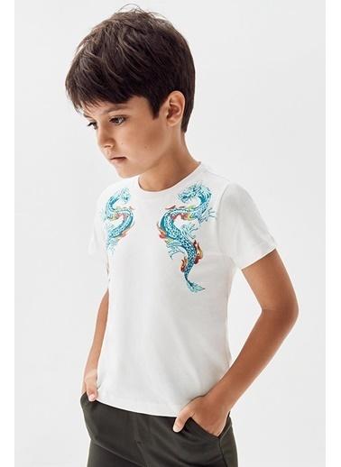 Nebbati Erkek Çocuk Ekru T-Shirt 20Pfwnb3507 Ekru